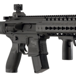 Sig Sauer MCX .177 Co2 Powered SIG20R Red Dot Air Rifle - detail of grip and magazine