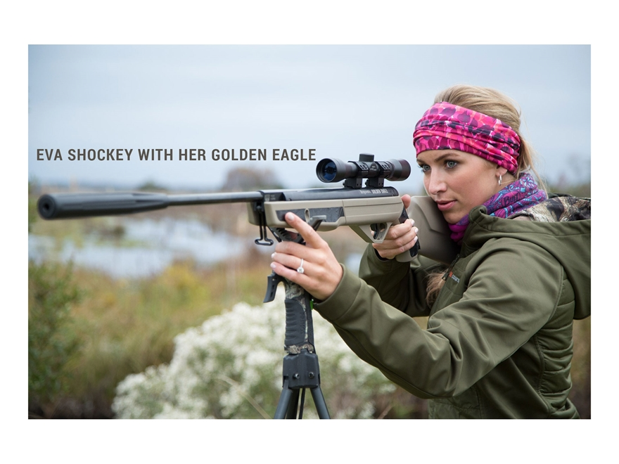 Benjamin BSSNP27TX Eva Shockey Golden Eagle Nitro Piston 2 Hunting Air Rifle with 4x32 Scope air gun