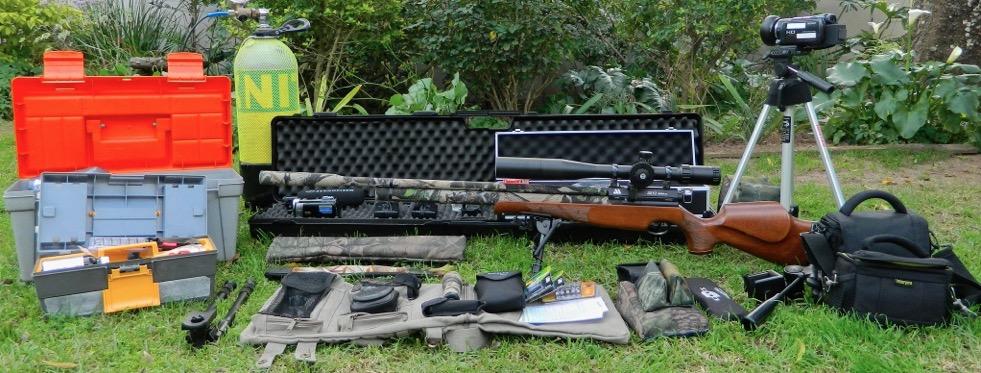 Air Arms S510 Xtra FAC PCP Air Rifle - user shooting kit