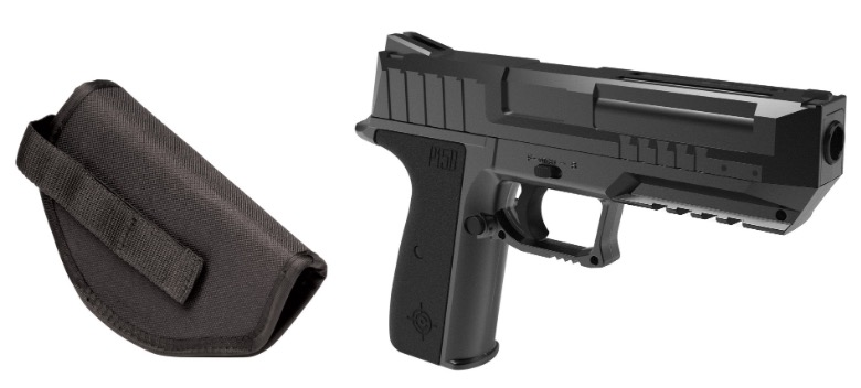 Crosman P15B CO2 Semi-Auto Blow Back Air Pistol with holster